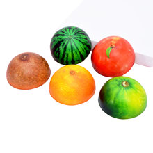 Squishy Half Fruit DIY Funny Antistress Jumbo Squishy Slow Rising Squishies Scented Kids Toys Baby Toys For Children Squish Gift(China)
