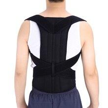 Adjustable Posture Corrector Back Support Shoulder Lumbar Br