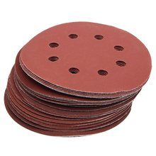 25 шт. 5 дюймов 8 отверстий зернистость 600#1000#1200#1500#2000# шлифовальный диск наждачная бумага