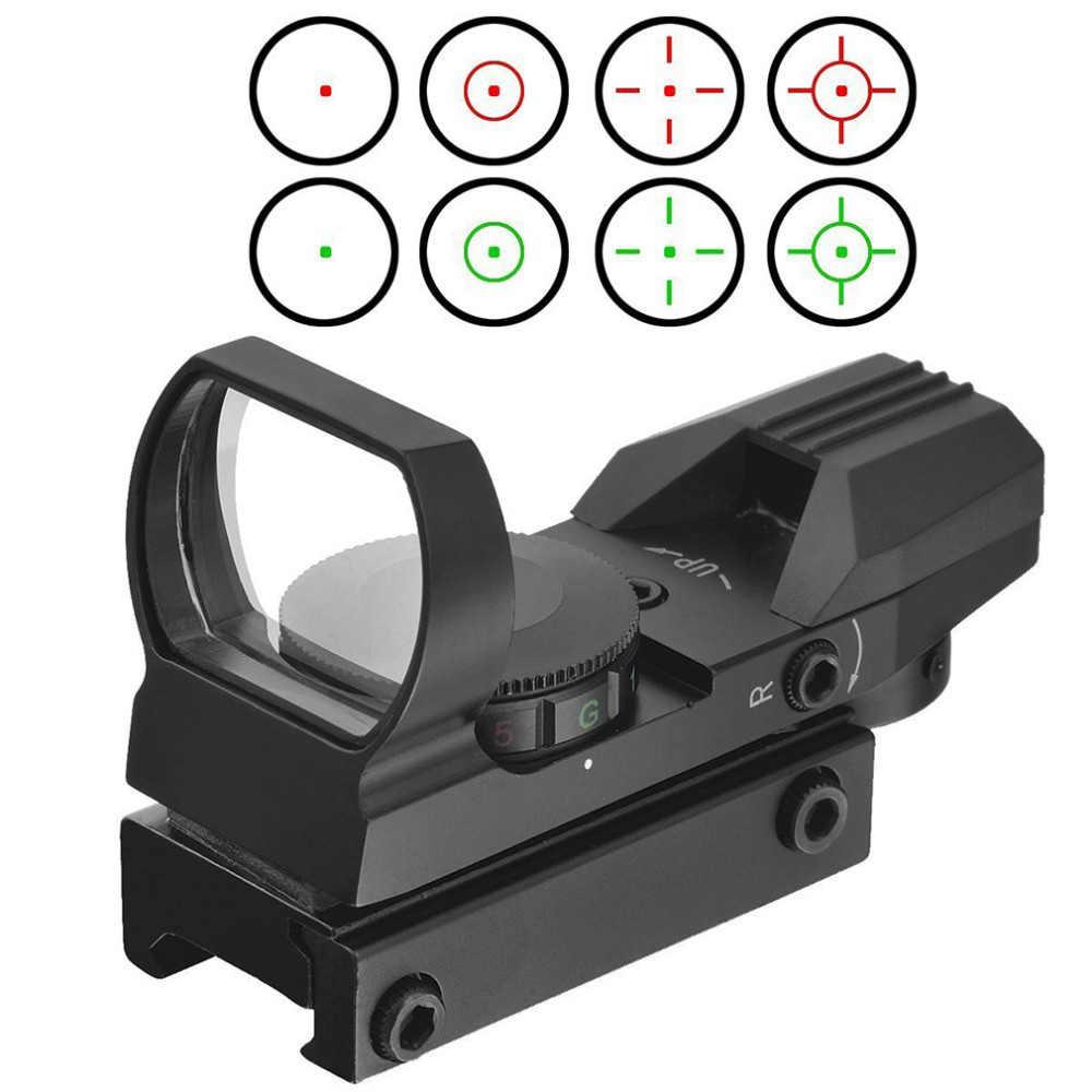 Sıcak 11mm/20mm Ray Refleks 4 Reticle Taktik Kapsamları Optik Holografik Sight Kırmızı Nokta Kolimatör Sight airsoft hava tabancası