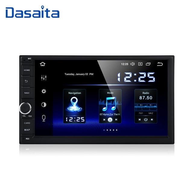 "Dasaita 2 Din Android 10.0 Autoradio 7 ""Universele Auto Geen Dvd speler Gps Stereo Audio Head Unit Ondersteuning Dab dvr Obd"