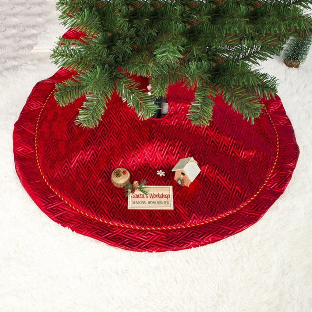 Модная Рождественская елка юбка ковер украшение 100 см Рождество для дома год Рождественский Декор - Цвет: Светло-желтый