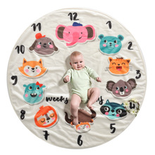1m In Diameter Soft and Warm Baby Toy Mat Baby Gyms & Playmats Kids Animal Series Cushion Newborn Infant Soft Photography Props