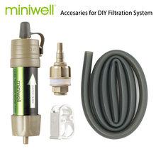 Miniwell L630 الشخصية التخييم تنقية المياه تصفية القش للبقاء أو لوازم الطوارئ