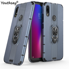 For Xiaomi Redmi Note 7 Case TPU+PC Phone Finger Holder Shockproof Hard Youthsay