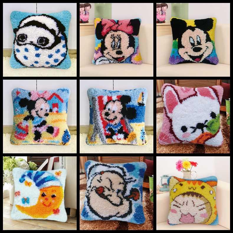 Kussen Klink Haak Kit Kussen Mat DIY Ambachten Mickey Mouse Patroon Kruissteek Handwerken set Haken Kussen Borduren Kit