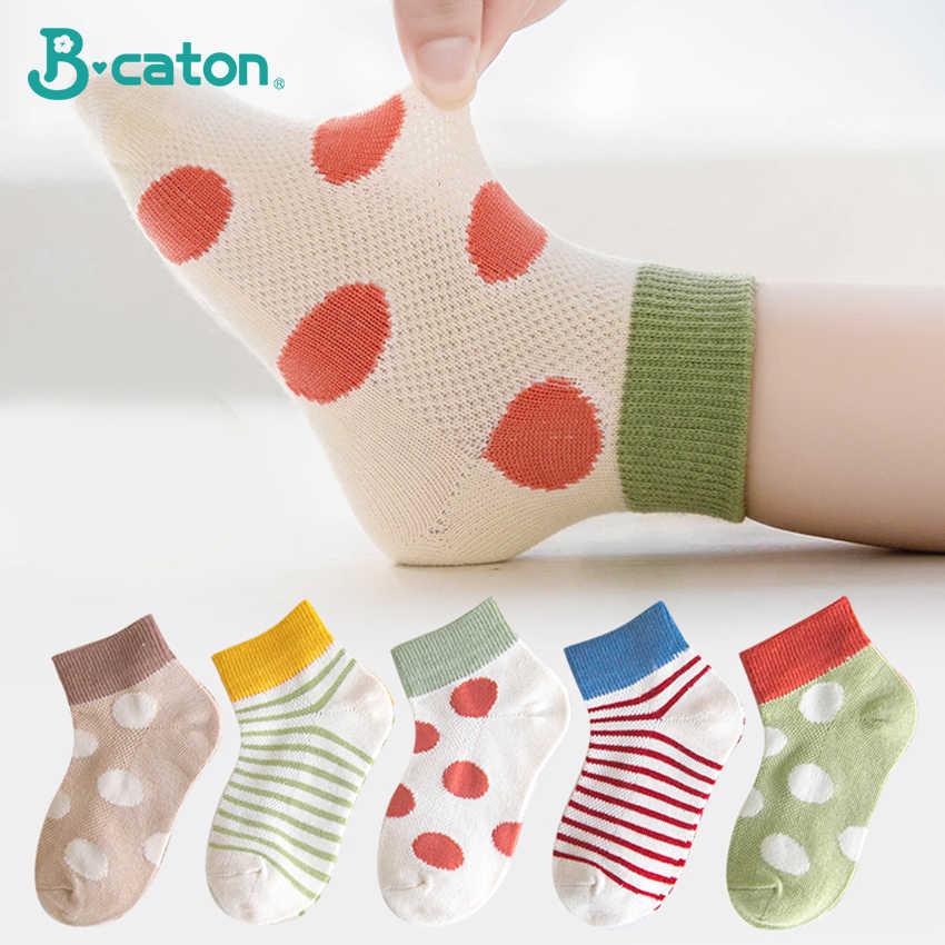 5 Pairs Kids Children Little Girls Cartoon Cotton Socks Soft Winter Warm Socks