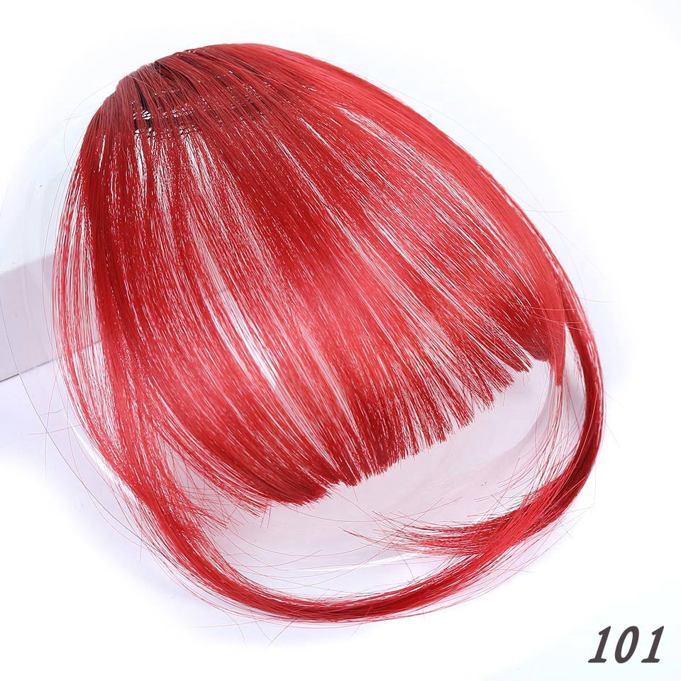 Манвэй, накладные волосы на заколках, накладные волосы с бахромой для женщин, заколки для волос с челкой, синтетические воздушные челки - Цвет: T1B/613