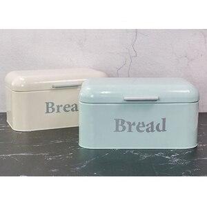 Винтажная коробка для хлеба, железная коробка для закусок, Настольная отделка, Пыленепроницаемая коробка для хранения, ящик для хранения, хранилище для еды, кухонная полка, Декор