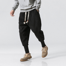 NEW Winter Street Casual Solid Color Thicken Fleece Warm Mens Jogger Trousers Fashion Elastic Waist Streetwear Sweatpants M-4XL