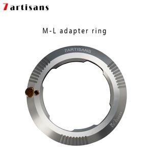 Image 1 - 7artisans M port lens adapter L port camera adapter ring for Leica T, Leica SL, Panasonic S1, S1R Sigma FP camera