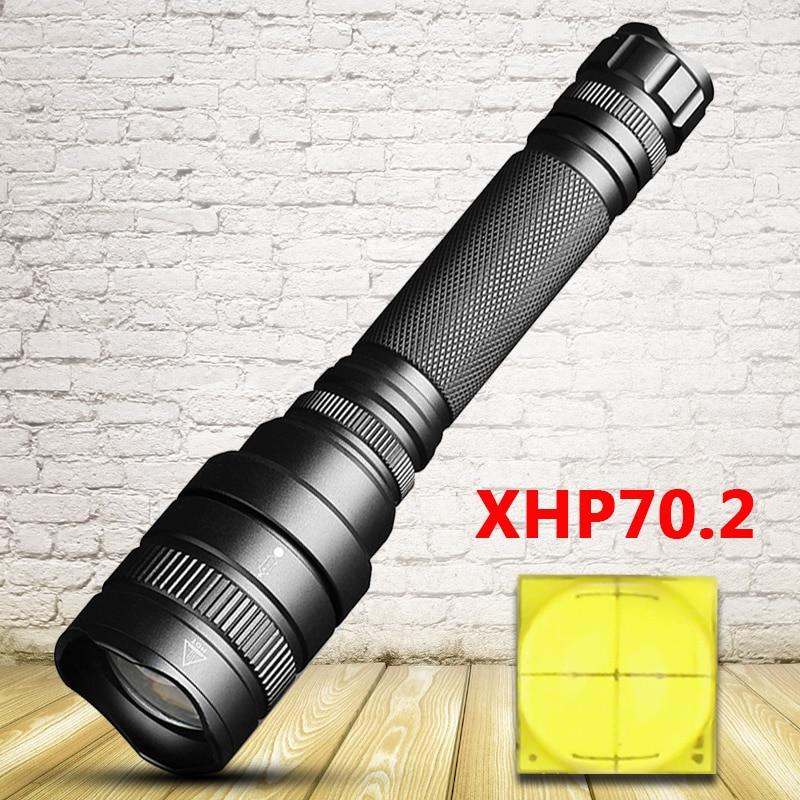 Litwod Z25 Original CREE XHP70.2 32w Powerful Tactical LED Flashlight Torch Zoom Lens Xhp70 Xhp50 2pcs 18650 Battery Flashlights