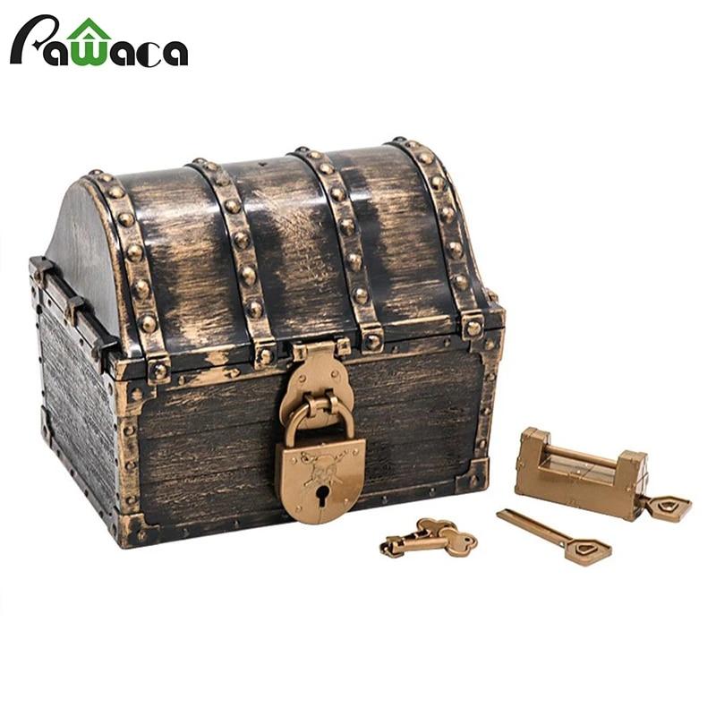 Retro Wooden Pirate Treasure Chest Box Jewelry Storage Box Case Home Decorative Bedroom Storage Toy Box Party Favors Props Gift Storage Boxes Bins Aliexpress