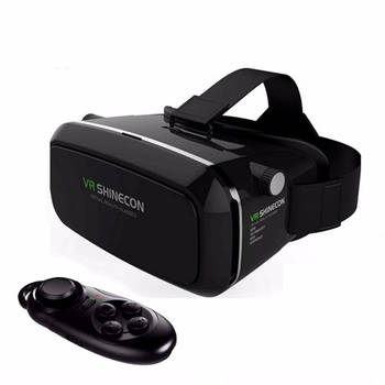 Hot VR Shinecon Bluetooth Virtual Reality 3D Glasses Headset For Iphone Samsung VR Bo 4.0-6.0 Inch Phone Google Cardboard 2.0 1