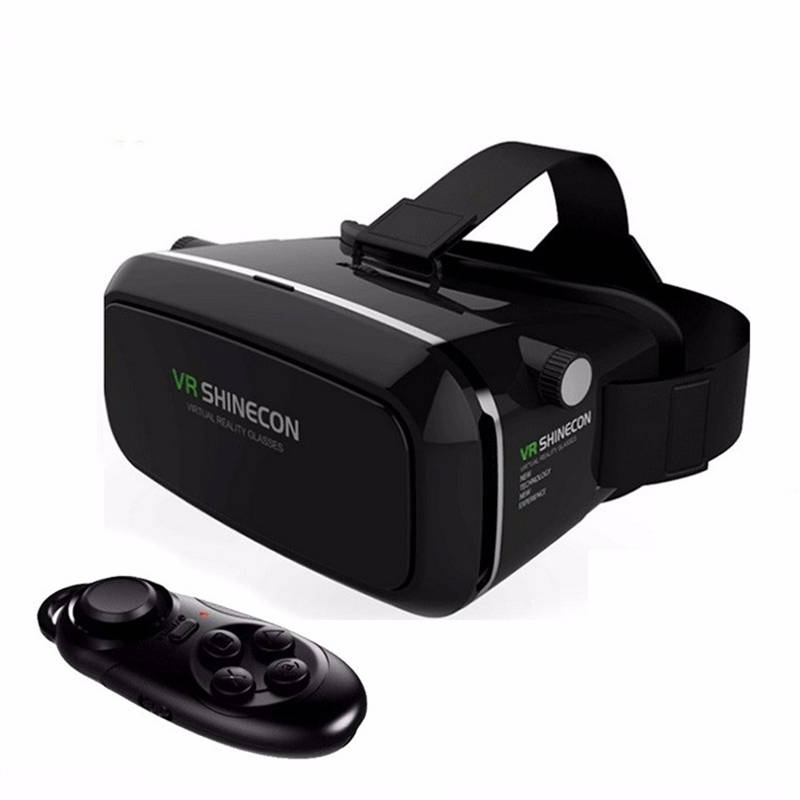 Hot VR Shinecon Bluetooth Virtual Reality 3D Glasses Headset For Iphone Samsung VR Bo 4.0-6.0 Inch Phone Google Cardboard 2.0 image