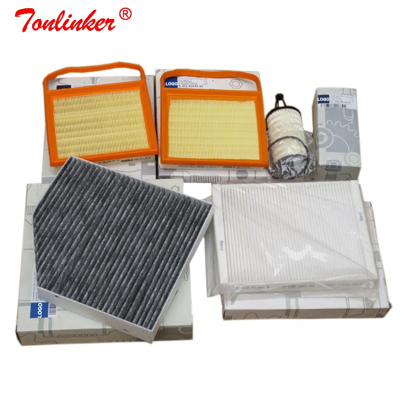 Air Filter+Cabin Filter+Oil Filter 5Pcs For Mercedes C CLASS W205 A205 C205 S205 2014 2019 C43AMG C400 C450 Model Car Filter Set-in Air Filters from Automobiles & Motorcycles