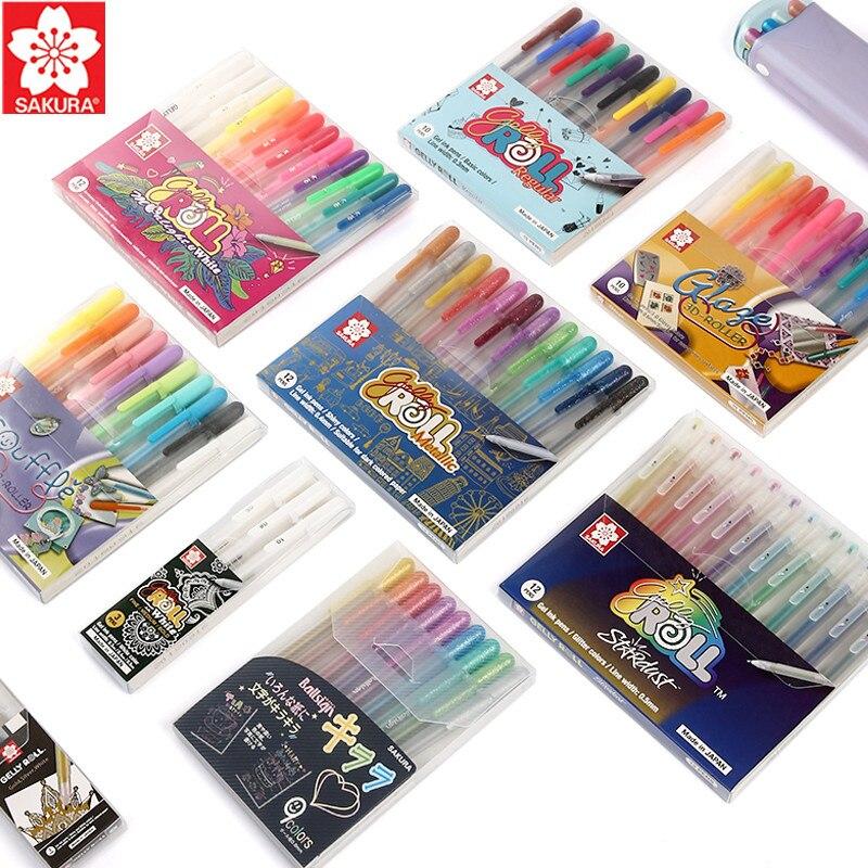 1 Набор SAKURA стереоскопическая Желейная ручка многоцветная Опциональная 0,3/0,4/0,5/0,6 мм Краска Граффити креативная Сделай Сам поздравительная ...