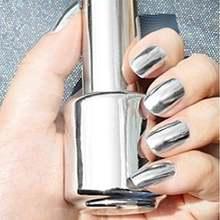 2 шт серебристый лак для ногтей с зеркальным эффектом 15 мл