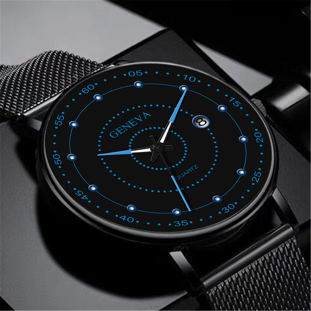 2020 Quartz Analog Watch Men's Clock Fashion Stainless Steel Luminous Watch Men's Sports Record Solar System Relogio Masculino
