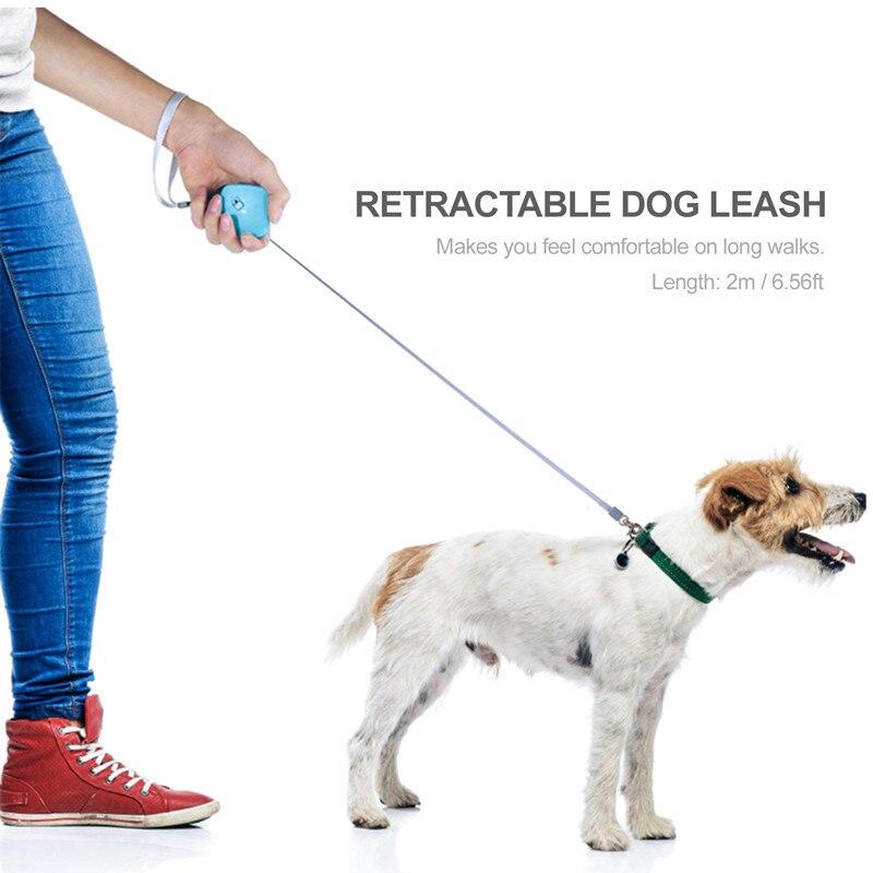 Собачий поводок автоматический выдвижной милый мини портативный нейлоновый поводок для прогулок на открытом воздухе подходит для маленьк...