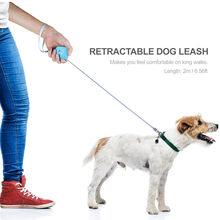 Coleira de cachorro retrátil automático bonito mini portátil alça de náilon ao ar livre andando adequado para pequeno médio-tamanho cão pet suprimentos
