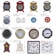 1/2 個素敵な 1:12 スケールアラーム時計ミニドールハウスミニチュアおもちゃ人形キッチンリビングルームアクセサリーホームデコレーション 6 色