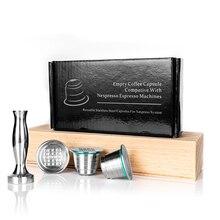 ネスプレッソ詰め替えカプセル再利用可能なコーヒーフィルタードリッパー鋼ネスプレッソcafeteira capsulasデカフェrecargables reutilizables