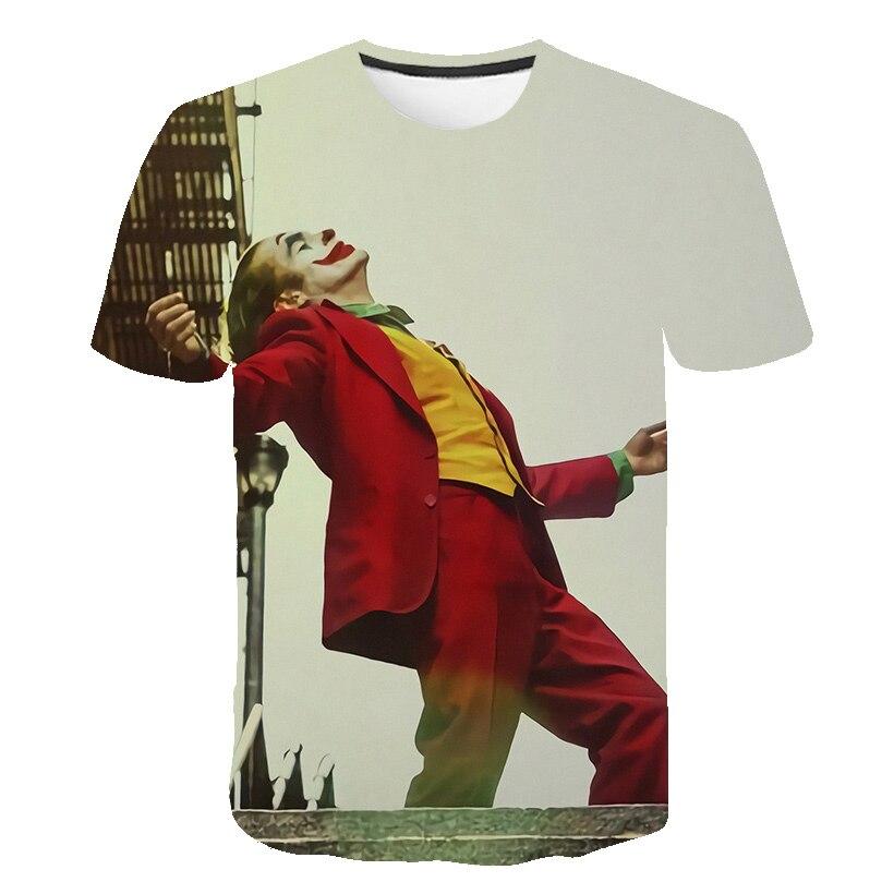 2019 Hot Sale Joker 3D Printed T Shirt Men Women IT Clown Horror Movie Casual Funny T-shirts Hip Hop Streetwear T Shirt Tee Top