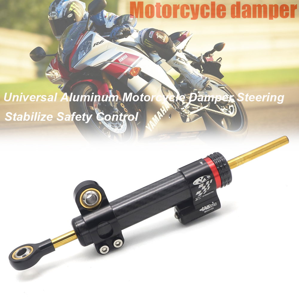 Carbon fiber Universal Motorcycle Adjustable Steering Damper Stabilizer For <font><b>Yamaha</b></font> MT10 <font><b>MT</b></font> <font><b>10</b></font> <font><b>MT</b></font>-<font><b>10</b></font> <font><b>MT</b></font> 07 <font><b>MT</b></font>-07 MT07 MT09 <font><b>MT</b></font> 09 image