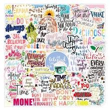 50 pçs pacote motivacional frases adesivo citações frases à prova dwaterproof água para computador portátil telefone skate escritório estudo sala graffiti decalque