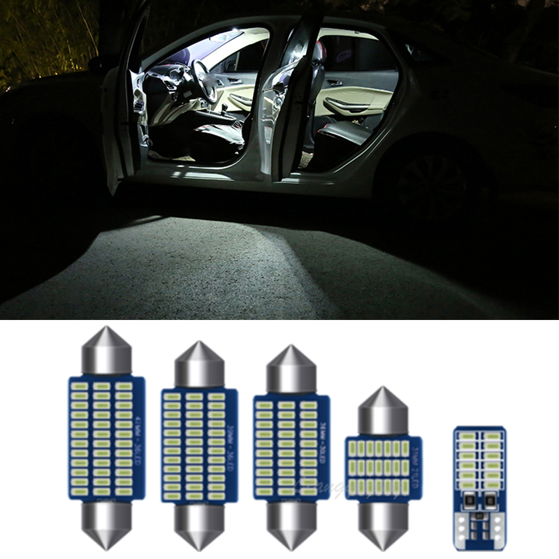 LED Interior License Plate Bulbs Light Kit Canbus Interior Lamp Lights Kit VW for Polo 6R 6C 9N 9N3 6N 6N1 6N2 1994-2017