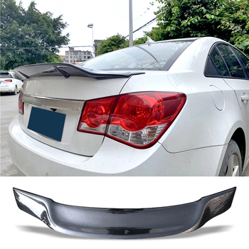 Car Trunk Spoiler Carbon Fiber FRP Auto Rear Trunk Wing R Style Refit Accessories Spoiler For Chevrolet Cruze 2009-2014