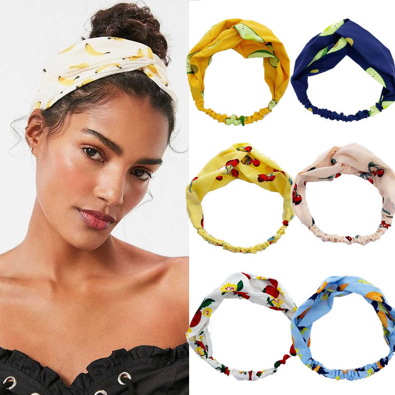 Floral Print Scrunchie Women Headband Elastic Bohemian Hairband Bow Hair Rubber Ropes Girls Hair Ties Accessories