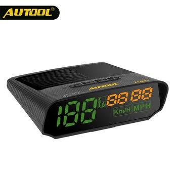 цена на AUTOOL X100S HUD GPS Solar Panels Head Up Display 5v Cigarette Lighter Universal Speedometer with Altitude Auto Diagnostic Tools