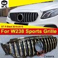 Для merceesmb W238 Coupe Передняя решетка гриль GT R Стиль W/камера ABS черный глянец E200 E250 E300 E350 400 500 E63 вид грили 16-