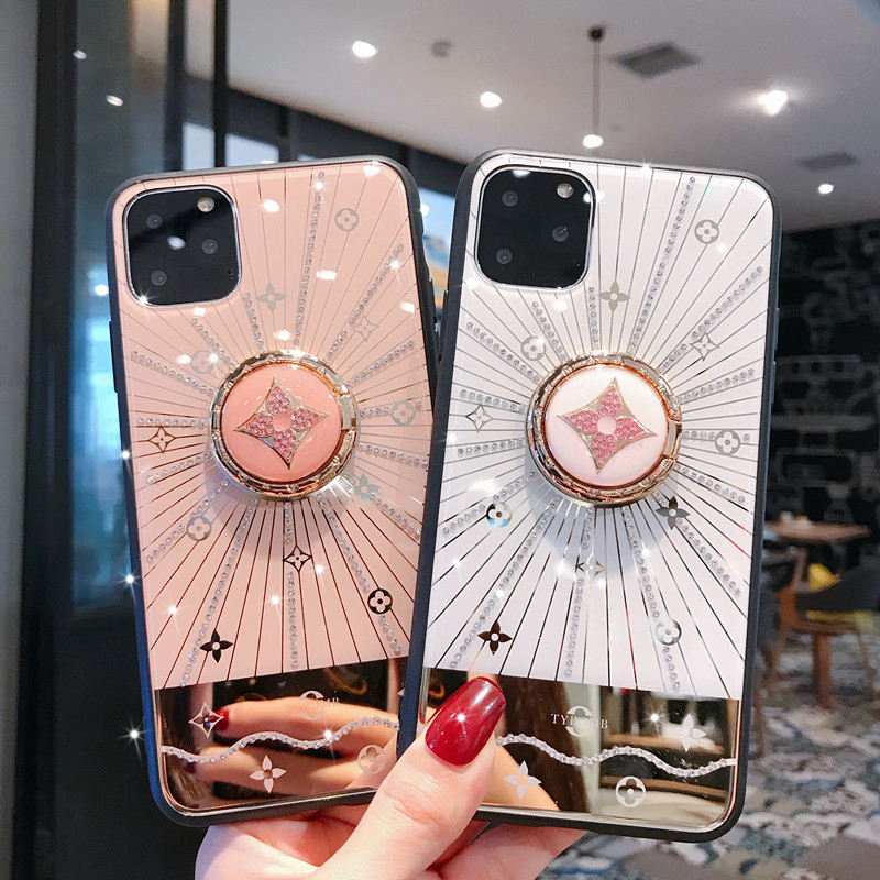 Cell Phone - For Iphone 11 Case Luxury Diamond With Ring Stand Gold protective back cover case for iphone 11 Pro Max iphone11 11Pro