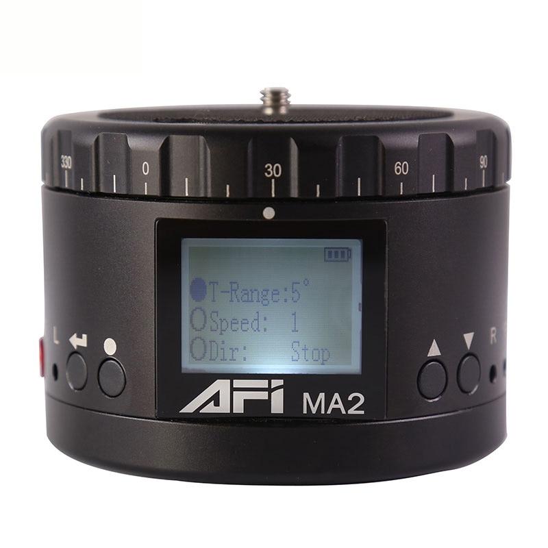 ABKT-AFI Ma2 360 poklatkowa kamera wideo Rotator Panorama głowica statywu Led do Canon Nikon Sony Dslr telefon 360 Timelapse Panning