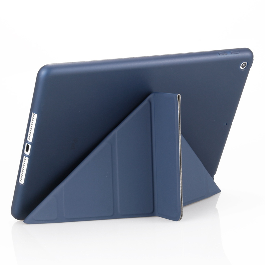 for 7-7th/A2200/A2198/A2232 Apple Soft-Silicon iPad Case Smart-Stand-Cover