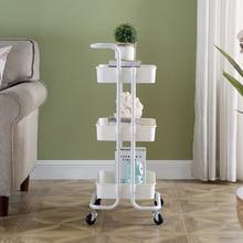 Kitchen Trolley Utility-Cart 3tier Multi-Function Foldable Metal Kingyee