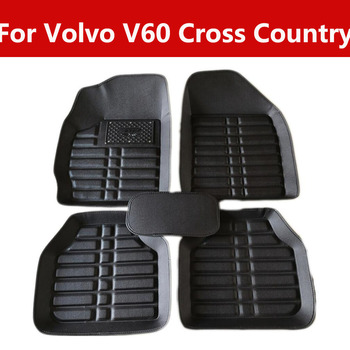 Car Floor Mats Liners For Volvo V60 Cross Country Premium Quality Carpet Vehicle Floor Mats image