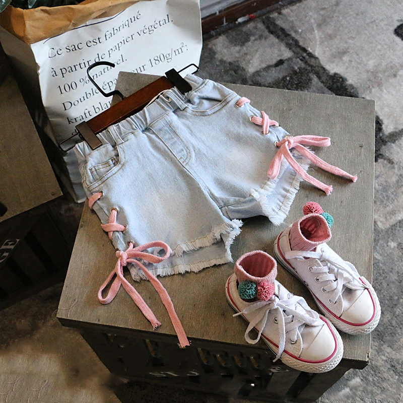 2020 kids clothes girl jeans shorts children summer fashion denim shorts 1