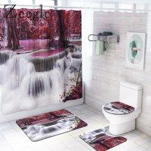 Сценический коврик для ванной и душевая занавеска с принтом