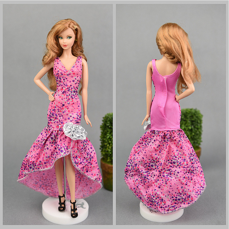 """Sequin Mermaid Tail Doll Dress For 11.5/"""" 1//6 Doll Clothes Evening Party Gown Toy"""
