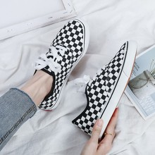 2020 new spring and autumn women's shoes lace-up casual canvas