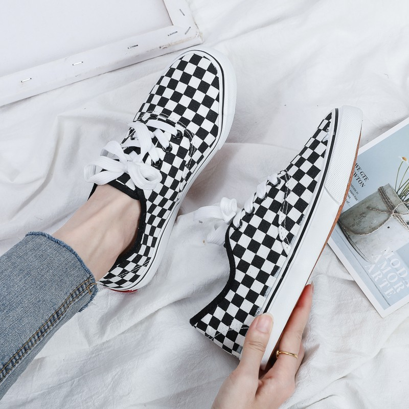 2020 New Spring And Autumn Women's Shoes Lace-up Casual Canvas Shoes All-around Fashion Sneakers Shoes Low Top Women Board Shoes