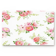 Flower Magnolia Flower Cluster Decoration Rose Pattern Blooming beautiful Bathroom Decor Rug Mat with Non Slip Rubber(China)