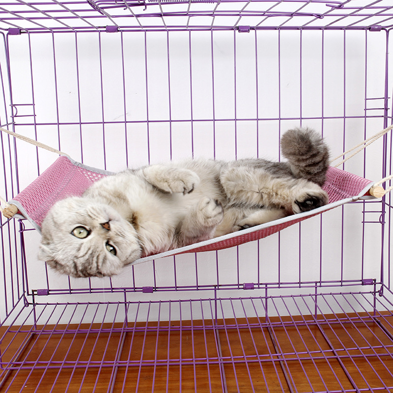Ji Zekee Summer Breathable Cat Swing Cat Cage Hanging Bed Hanging Universal Cage Universal Grid Summer Swing
