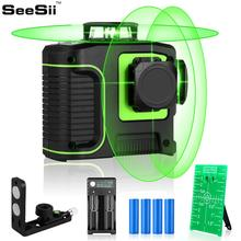 12 Lines 3D Cross Line Laser Level Self-Leveling 360degree Vertical & Horizontal Cross Super Powerful Green Laser Beam Line цены онлайн