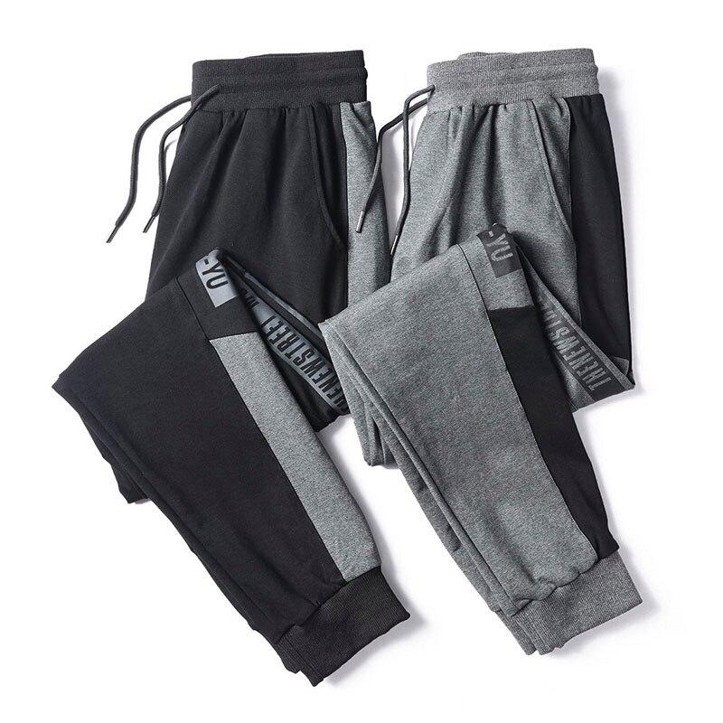 Мужские спортивные брюки, Осень-зима, раньше, фитнеса, бодибилдинга, джоггеры, тренировочные брюки, мужские повседневные хлопковые брюки-ка...