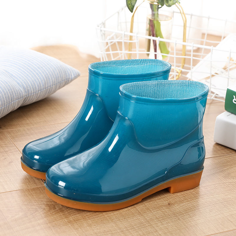 Clearance SaleRain-Boots Washing-Shoes Woman Slip-On Solid No The Keep-Warm